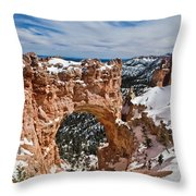 Snow Capped Arch At Bryce Throw Pillow