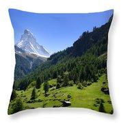 Snow-capped Matterhorn Throw Pillow