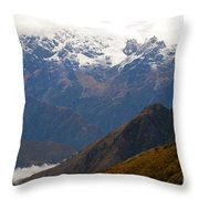 Snow Clouds In The Andes Throw Pillow
