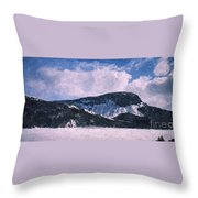 Snow Clouds - Winter - Ice Throw Pillow