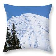 Snow Cone Mountain Top Throw Pillow