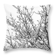 Snow Cover Throw Pillow