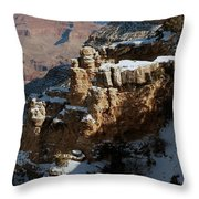 Snow Covered Grand Canyon Throw Pillow