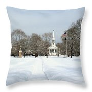Snow Covered Guilford Throw Pillow