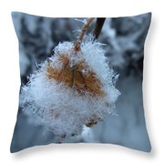 Snow Crystals Throw Pillow