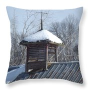 Snow Cupola Throw Pillow