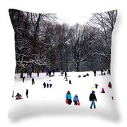 Snow Day - Fun Day Throw Pillow