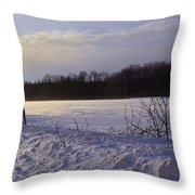 Snow Devils Playing Throw Pillow