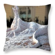 Snow Dragon Throw Pillow