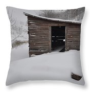 Snow Drift Throw Pillow