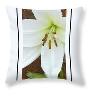 Snow Drops Throw Pillow
