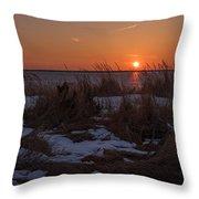 Snow Dune Sunset Seaside Park Nj Throw Pillow