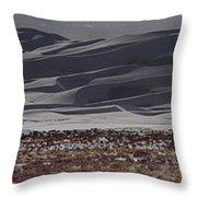 Snow Dunes By Night Throw Pillow