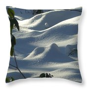 Snow Dunes Throw Pillow