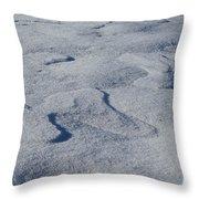 Snow Dunes Throw Pillow