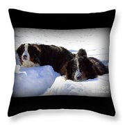 Snow Eaters Throw Pillow