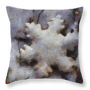 Snow Flake Enjoy The Beauty Photo Art Throw Pillow