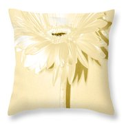 Snow Flake Zinnia Throw Pillow