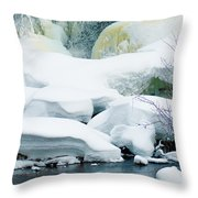 Snow Formations Throw Pillow