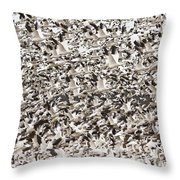 Snow Geese Blast Off Throw Pillow