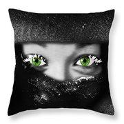 Snow Girl Square Throw Pillow