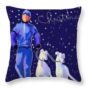 Snow Greys Throw Pillow