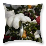 Snow Hands Throw Pillow