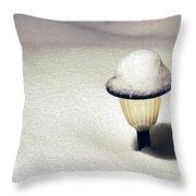 Snow Hat Throw Pillow