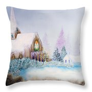 Snow In Florida Throw Pillow by David Kacey