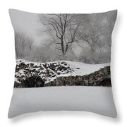 Snow In Plymouth Meeting Pa Throw Pillow