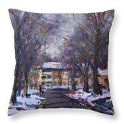 Snow In Silverado Dr Throw Pillow