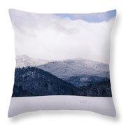 Snow In The Blue Ridge Mountains Throw Pillow