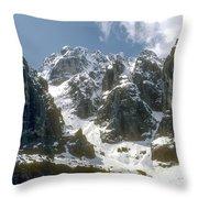 Snow In The Dolomites Throw Pillow