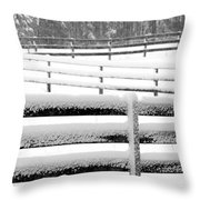 Snow In The Pasture Throw Pillow