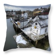 Snow In The South End Throw Pillow