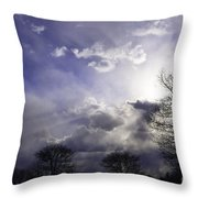 Snow Is In The Air Throw Pillow