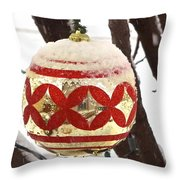 Snow Just In Time For Christmas Throw Pillow