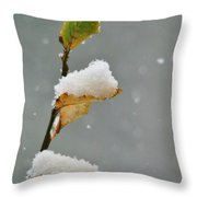 Snow Kissed Throw Pillow