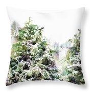 Snow Laden - Digital Effect IIi Throw Pillow