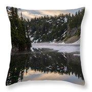 Snow Lake Last Fog Throw Pillow