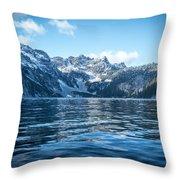 Snow Lake Throw Pillow