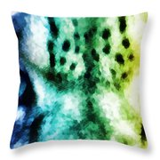 Snow Leopard Eyes 2 Throw Pillow