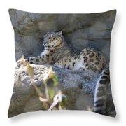 Snow Leopard    No.2 Throw Pillow
