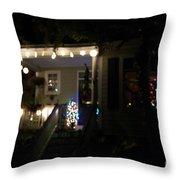 Snow Lights Throw Pillow