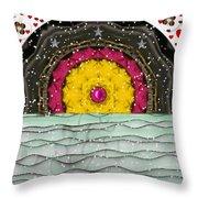 Snow Love Pop Art Throw Pillow