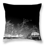 Snow Machines On The Roof Throw Pillow