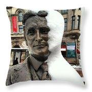 Snow Man Throw Pillow