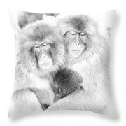 Snow Monkey Character Study Vi Throw Pillow
