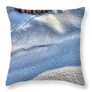 Snow Mound Throw Pillow