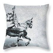 Snow On Joan Throw Pillow